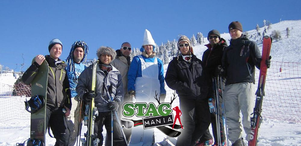 ski stag weekend snowbombing fest